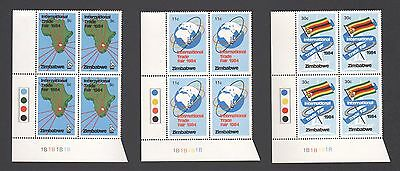 ZIMBABWE 1984 INTERNATIONAL TRADE FAIR Map Flags 1B  BLOCKS MNH
