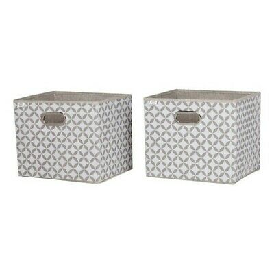 South Shore Storit Patterned Fabric Storage Baskets (Set of 2)