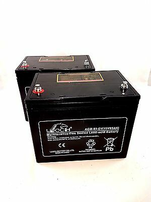 2 X Leoch 85AH AGM Battery for Mobility Scooter, Wheelchair Golf Buggy (75ah)