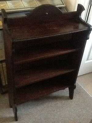 Solid Oak Bookcase Art Deco Style Heavy Quality Unit