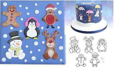 Patchwork Cutters CUTE CHRISTMAS CHARACTERS Sugarcraft Cake Decorating
