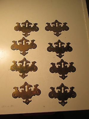 Vtg Lot of 8 Furniture Escutcheon Backplates Only Chippendale Batwings  C63