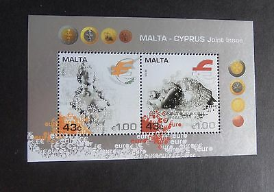 Malta 2008 Adoption of Euro Currency MS1585 MNH um unmounted mint (M)
