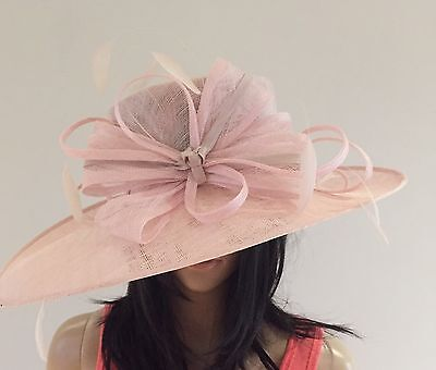 Nigel Rayment Pale Pink Wedding Occasion Hat Mother Of The Bride