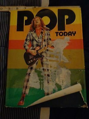 POP TODAY 1974 BOOK WITH PICS OF David Bowie,queen,slade and lots more