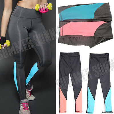 Women High Waist Yoga Fitness Leggings Running Gym Sports Pants Trousers USPS SS