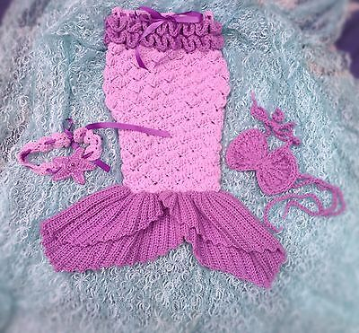 Open tailed crochet Mermaid tail set, baby/toddler,halloween costume, photo prop
