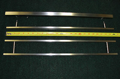 "Lot of 4 Custom 24"" Solid Stainless Steel Pulls From Historic Restoration"