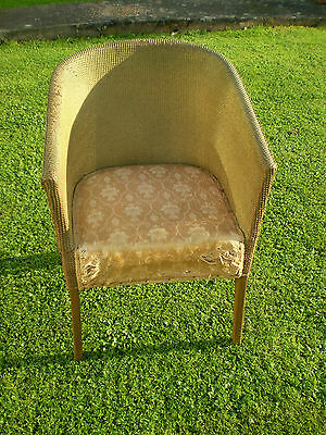 Vintage Lloyd Loom Style Bedroom Chair In Need Of Tlc! Shabby Chic