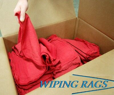 10 Lbs Shop Grease Wiping Household Cloths Rags Cleaning Towels 200 Red Towels