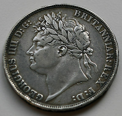 "King George IV 1822 ""TERTIO"" Crown."