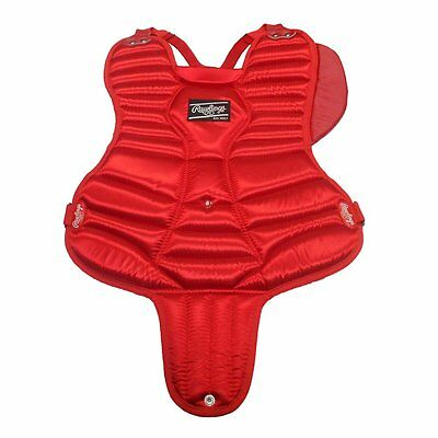 "NEW Rawlings 12P1 15"" Intermediate Catcher's Chest Protector Red/Black"