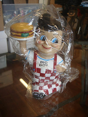 Bob's Big Boy Vinyl Coin Bank  2001 NEW in Un-Opened Plastic Bag