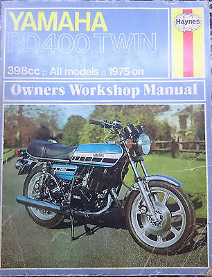 YAMAHA RD 400 twin 398cc owner's manual  1975 on