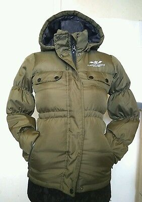 Name It Girls  Army Green Outerwear Parka Winter Hooded Jacket Coat Age 9 Years