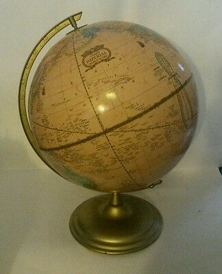 Vintage Crams Imperial World Globe 1991 Tan Raised Relief
