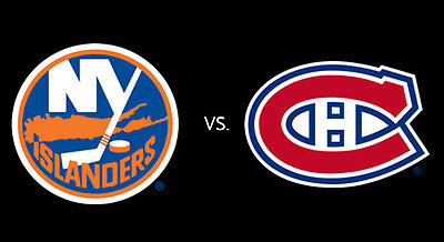 2 Side by Side Tickets Montreal Canadiens VS New York Islanders February 23