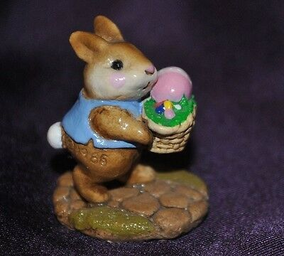 1985 WEE FOREST FOLK  B-12 TINY EASTER BUNNY Retired Rare