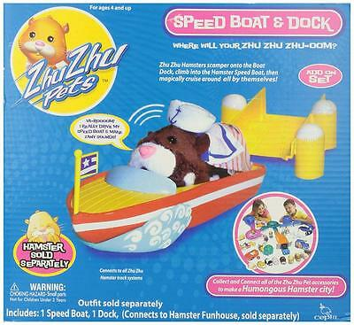 New Zhu Zhu Pets Hamster Speed Boat & Dock Accessory with FREE Shipping