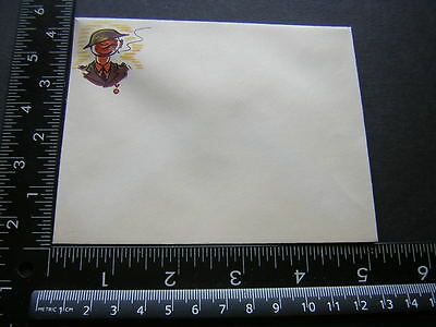 G0287 Vintage Military Correspondence Paper Envelope WW2 Comic Character