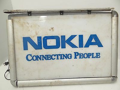 Vintage Used Nokia Connecting People BP-8538 Advertising Light Up Display Sign