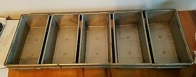 """EKCO"" H.D. COMMERCIAL STRAPPED BREAD BAKING 5 LOAVES SETS 11""x5.5"""