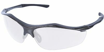💥Frontier XWRAP 💥Safety Specs Black Frame Clear Lens‼️