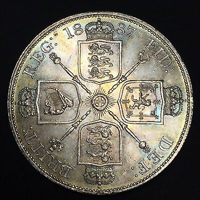 1887 Double Florin, Arabic 1, Uncirculated
