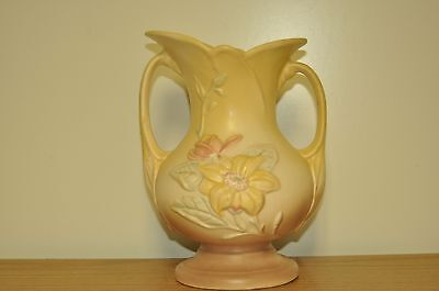 Vintage Hull Art Pottery Vase Planter Floral Pastel Pink Yellow
