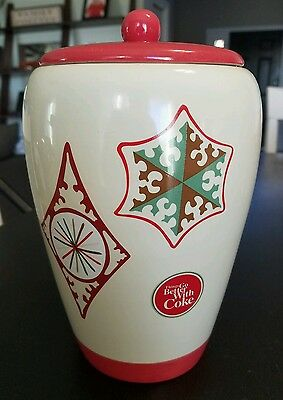 "Ceramic Coca Cola Coke Classic Christmas Cookie Jar 9"" Ice Bucket Holidays"