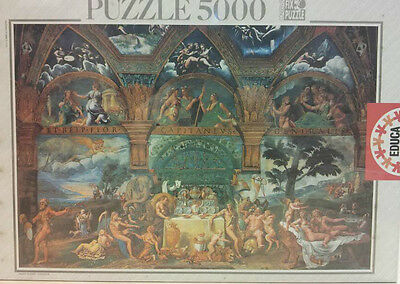 NEW SEALED Educa 5000 Piece Puzzle THE WEDDING OF PSYCHE AND CUPID Giulio Romano