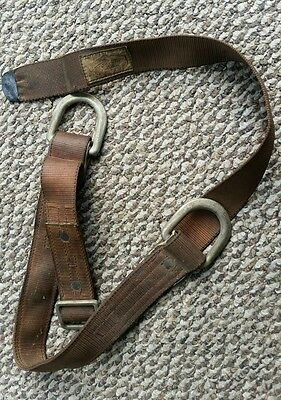 BUHRKE SAFETY BELT 1446 Double BACK THRU BUCKLE EXCELLENT CONDITION.