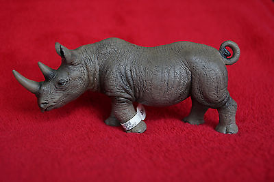 Schleich African Male Black Rhino 14394, Retired