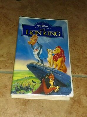 Walt Disney Lion King Masterpiece Collection VHS Clamshell