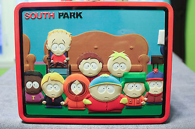 South Park Boys As Super Heroes Large Carry All Tin Tote Embossed Lunchbox, NEW