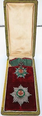 .RARE 1800s / EARLY 1900s TURKISH ORDER OF OSMANIE OSMANIEH IV CLASS MEDAL SET !