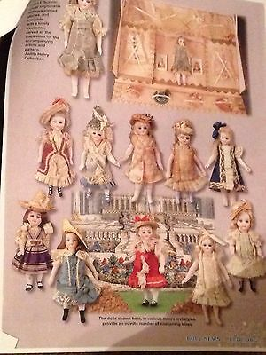 """Wardrobe Pattern to fit 5"""" French Mignonette Doll + History Article CD coppy"""