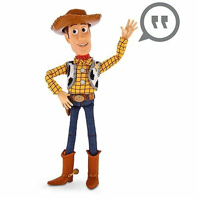 Authentic Disney Store WOODY Talking Doll Figure Pull String Toy Story Cowboy