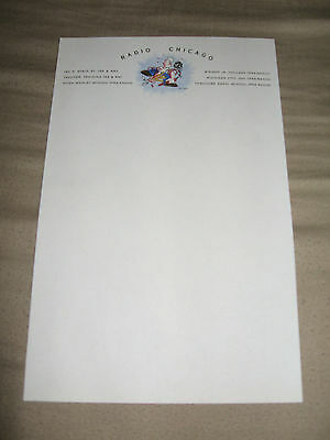 1940 Letterhead Radio Chicago Popeye & Microphone Mint Condiion Rare Collectable