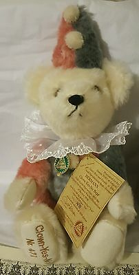 Limited Edition Hermann Yes No Clown Bear Mint In Box W/ Tags,certificate
