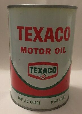 Vintage Texaco Motor Oil Can Full