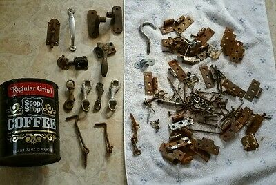 Vintage Large Lot of Misc. Hardware Window, Door, Hinges, And Latches