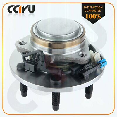 Front New Wheel Hub & Bearing For Chevy GMC 99-07 Pickup Truck 2WD 6 Lugs W/ABS