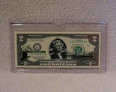 Alaska $2 Two Dollar Bill - Colorized State Landmark - Uncirculated Authentic