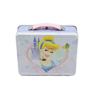 Princess Cinderella Disney Tin Box Tote Metal Carry All Gift Toy Lunch Box