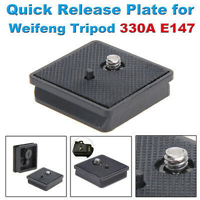 Professional Quick Release QR Plate For Weifeng Tripod 330A E147 40*42mm Black