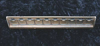 LONDON TRANSPORT WOODEN 20-POSITION VINTAGE BELL PUNCH TICKET RACK ex TRAM / BUS