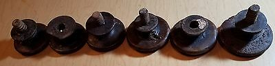 6 Antique Vintage Wood Knobs from 1880s Dresser Wooden