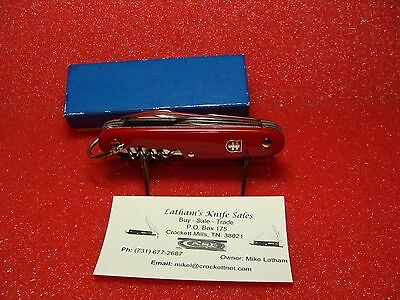 Colonial Camper Scout Knife--Red Plastic--Sid Harveys--Adv