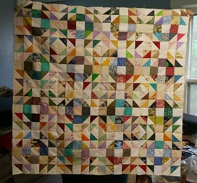 Scrappy Crown of Thorns Quilt Top Prints / Lights